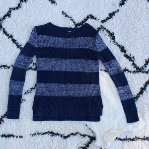 a.n.a Blue Striped Sweater Size Small
